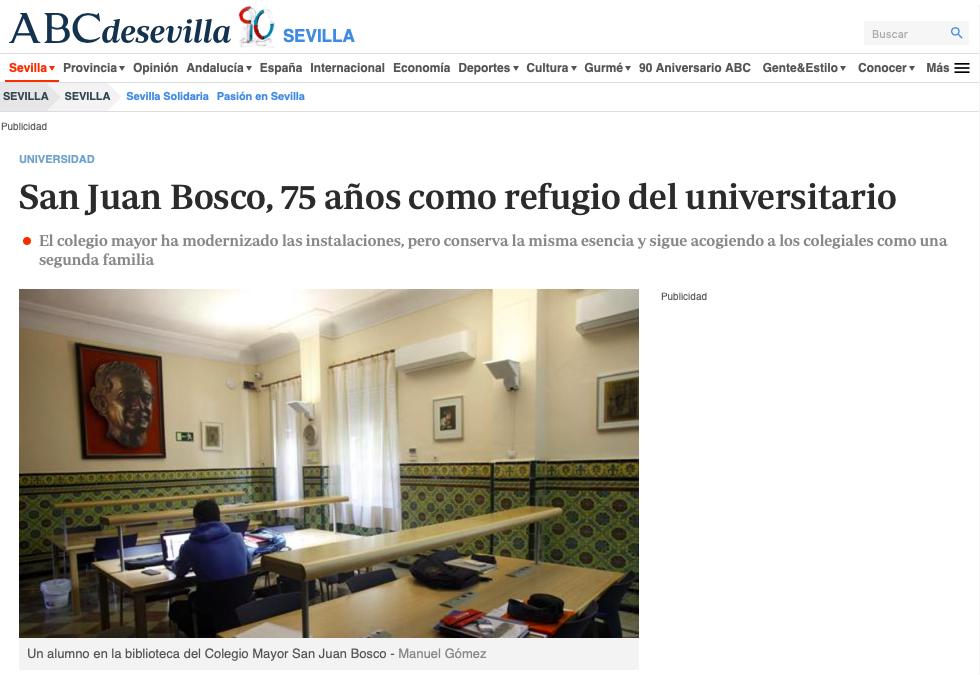 La conmemoración del 75 aniversario del Bosco en ABC de Sevilla