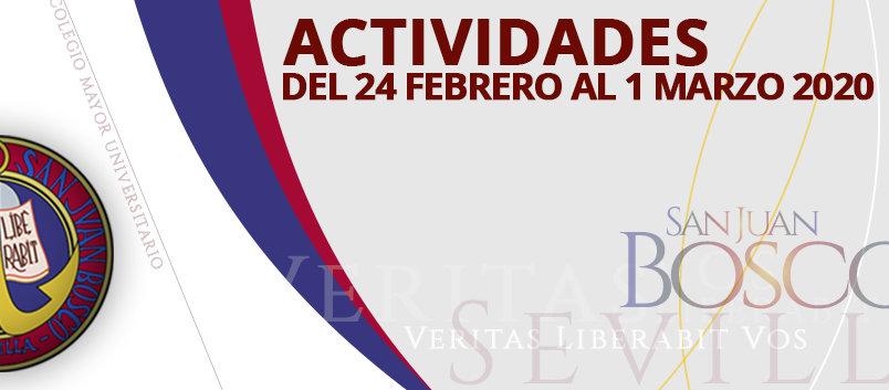 Actividades del 24 de febrero al 1 de marzo