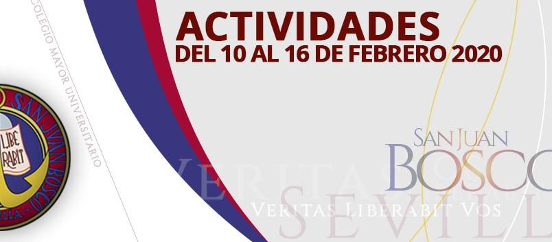 Actividades del 10 al 16 de febrero