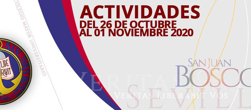 Actividades del 26 de octubre al 1 de noviembre