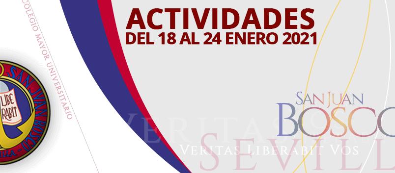 Actividades del 18 al 24 de enero 2021