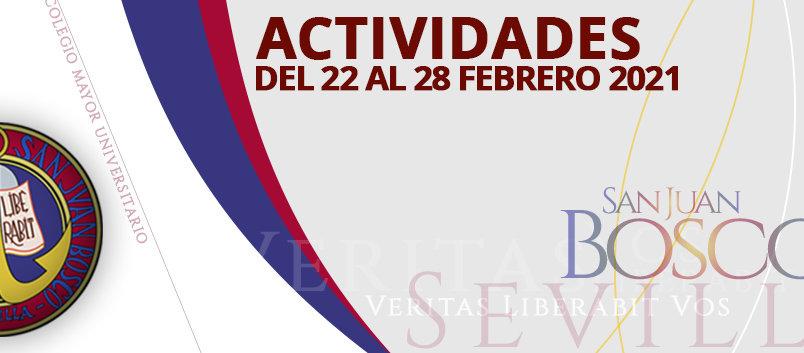 Actividades del 21 al 28 de febrero