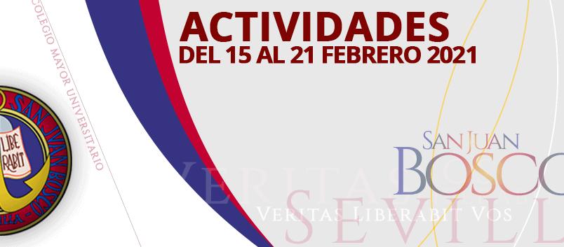 Actividades del 15 al 21 de febrero