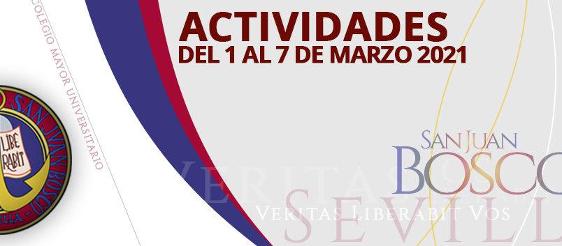 Actividades del 1 al 7 de marzo