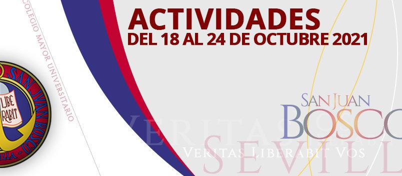 Actividades del 18 al 24 de octubre 2021